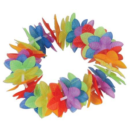 Pack of 12 Tropical Island Luau Party Rainbow Flower Costume Headbands 20