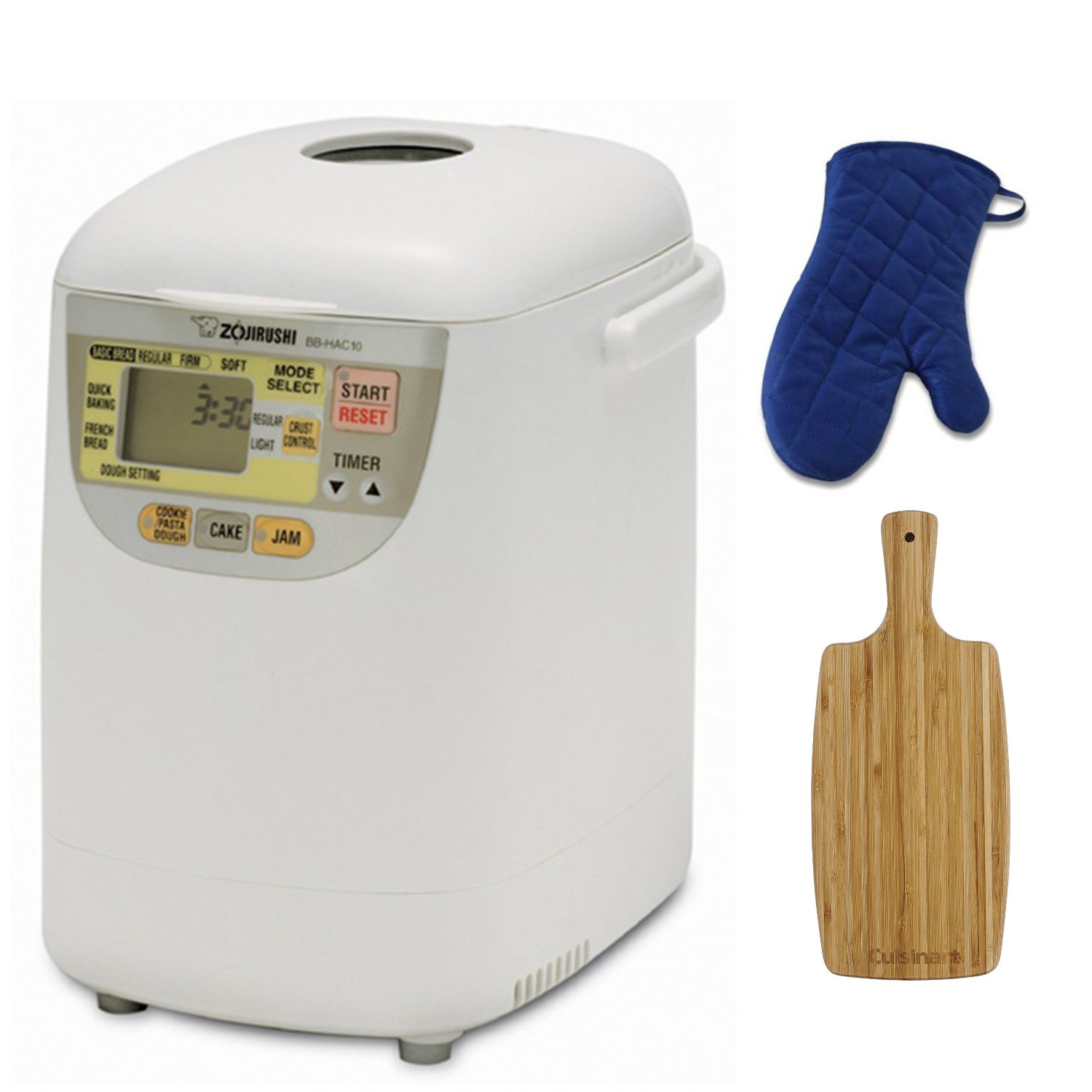 Zojirushi Home Bakery Mini Breadmaker with Cutting Board and Oven Mitt Bundle