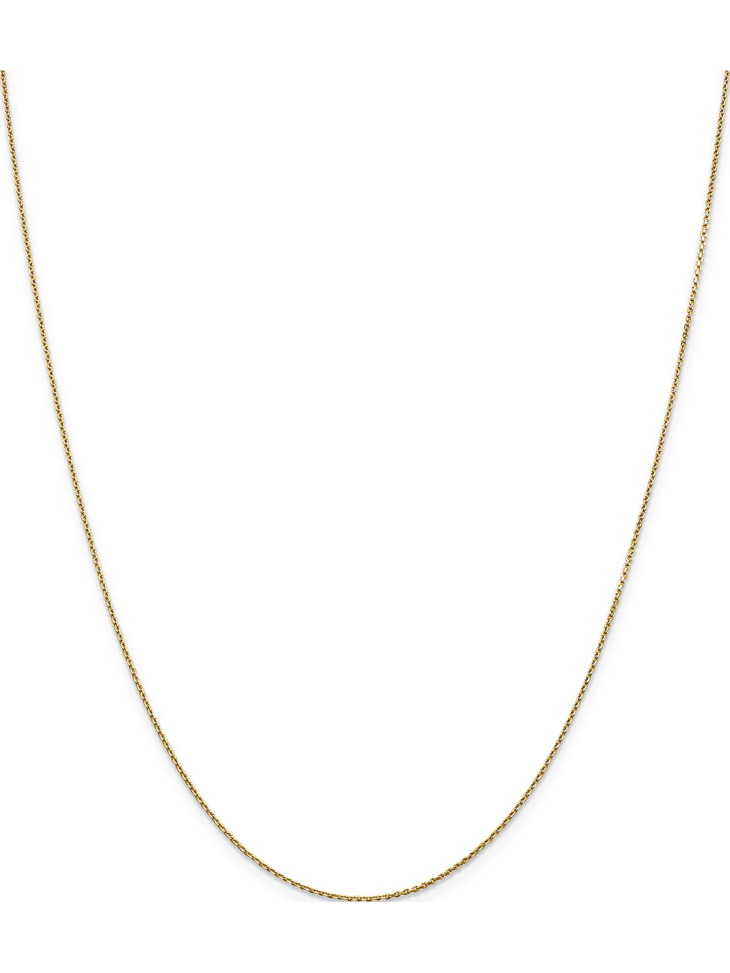Beautiful Yellow gold 14K 14k .90mm D//C Cable Chain