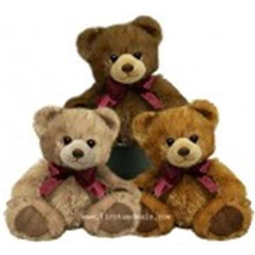First & Main 1184 7 inch Sitting Minkies Bear 3 assorted