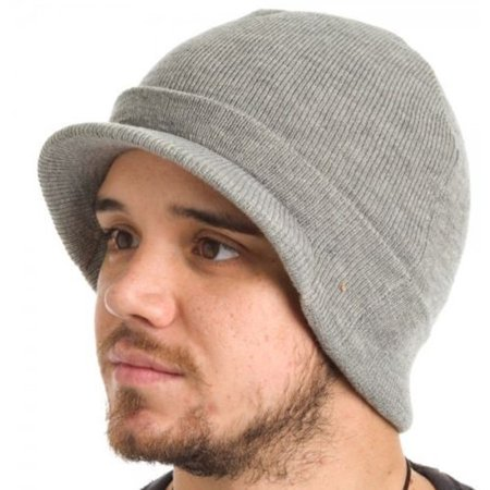 0d5ef06e5 Dickies Core 874 Heather Grey Billed Knit Beanie Hat with Visor Cap  Accessory - Walmart.com