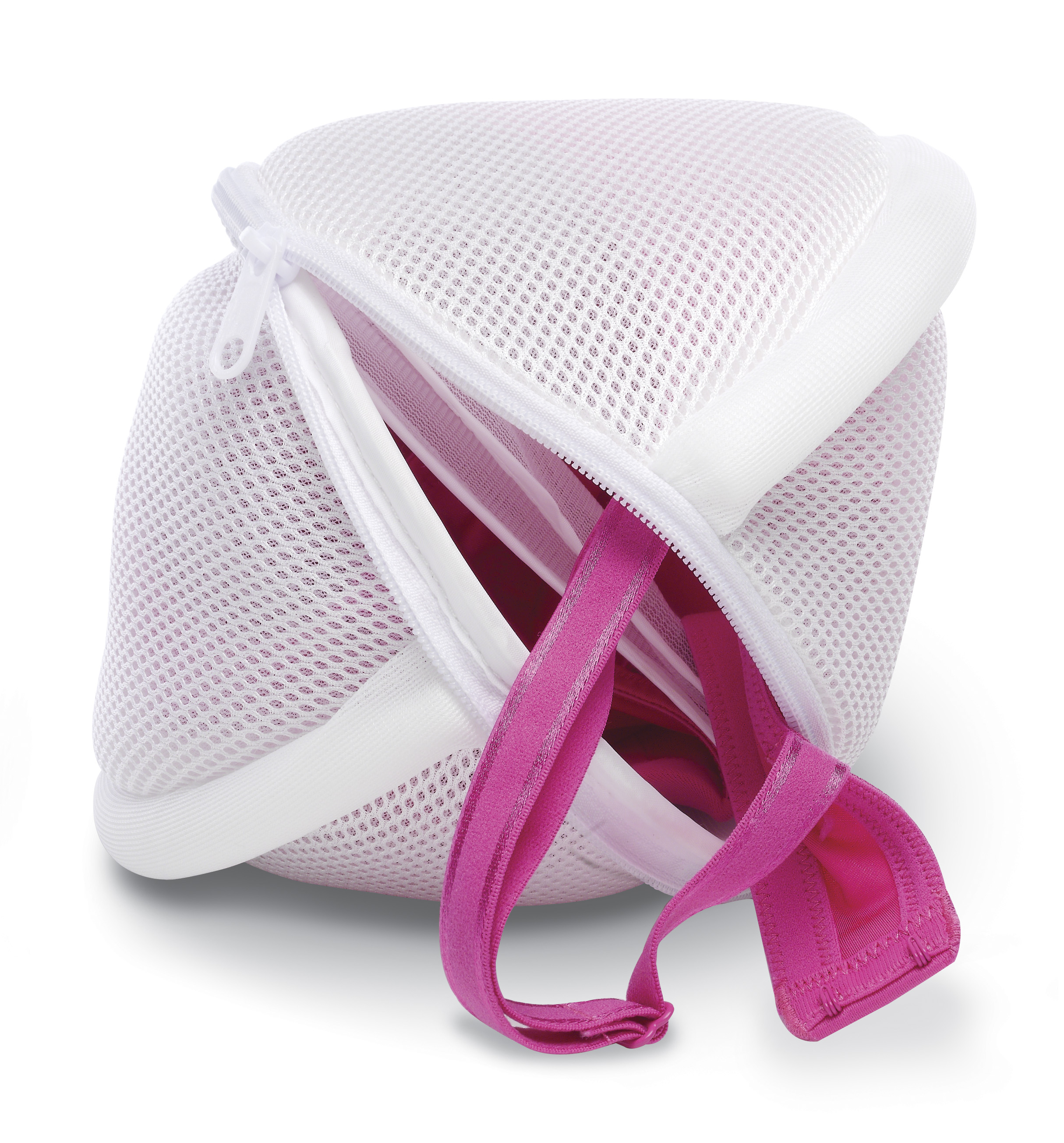 Whitmor 2-Compartment Bra Wash Bag White