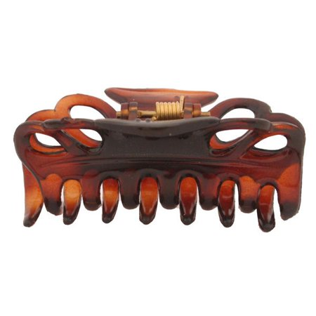 Caravan Large Braid Hair Claw Tortoise Shell Model No. 841