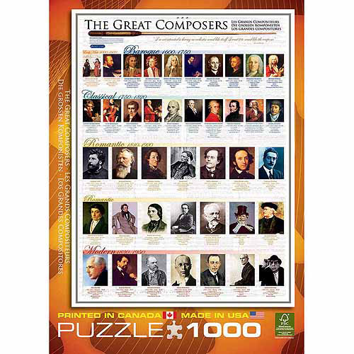 EuroGraphics Great Composers 1000-Piece Puzzle
