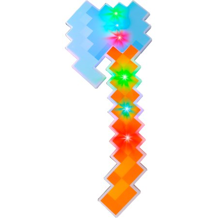 Child's Light Up Pixel Cube Mining Axe Toy Costume Accessory](Costume Axe)