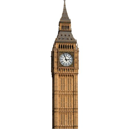 Star Cutouts Big Ben Cardboard Cutout Life Size - Star Cutout