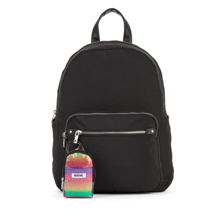 No Boundaries Solid Black Fashion Backpack