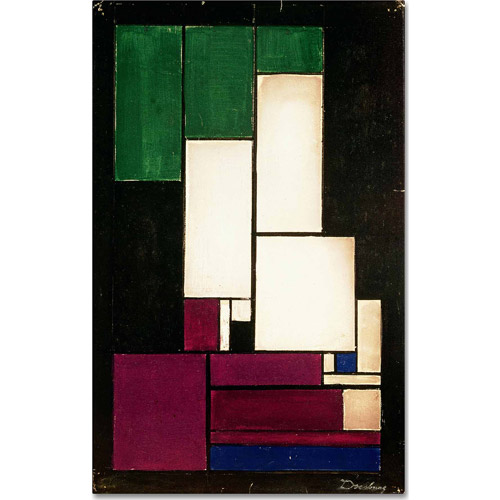 "Trademark Fine Art ""Composition, 1922"" Canvas Art by Theo van Doesburg"