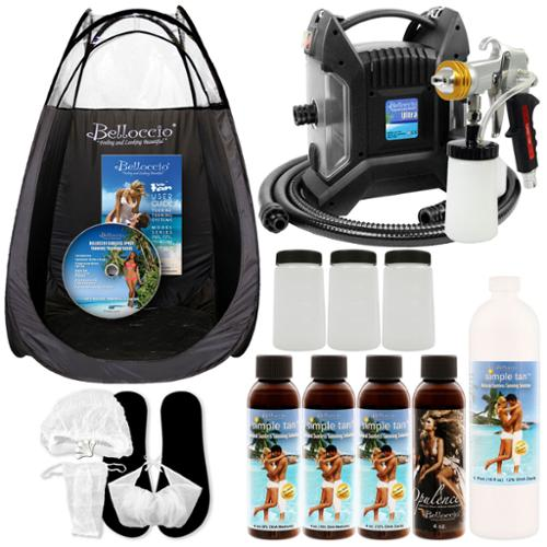 ULTRA PRO PLUS Sunless Airbrush HVLP SPRAY TANNING SYSTEM Dk Ocean Solution TENT