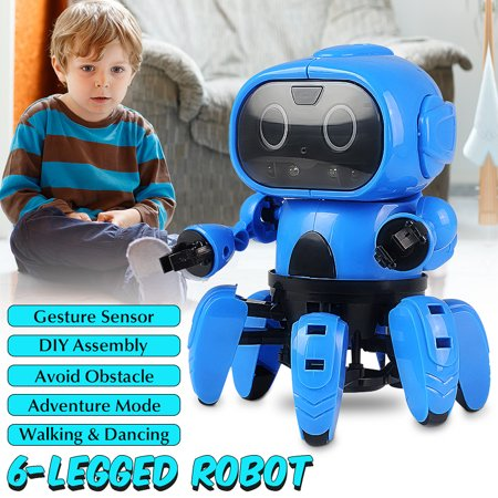 MoFun DIY Smart Stem 6-Legged RC Robot With Gesture Sensing Infrared Avoid Obstacle Walking Function Toys Gifts For Children Kids -  Friend Mode And Adventure Mode