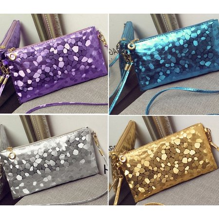 Womens Evening Party Clutch Bag Purse Bag Handbag Sequins Sparkling Bling Wallet