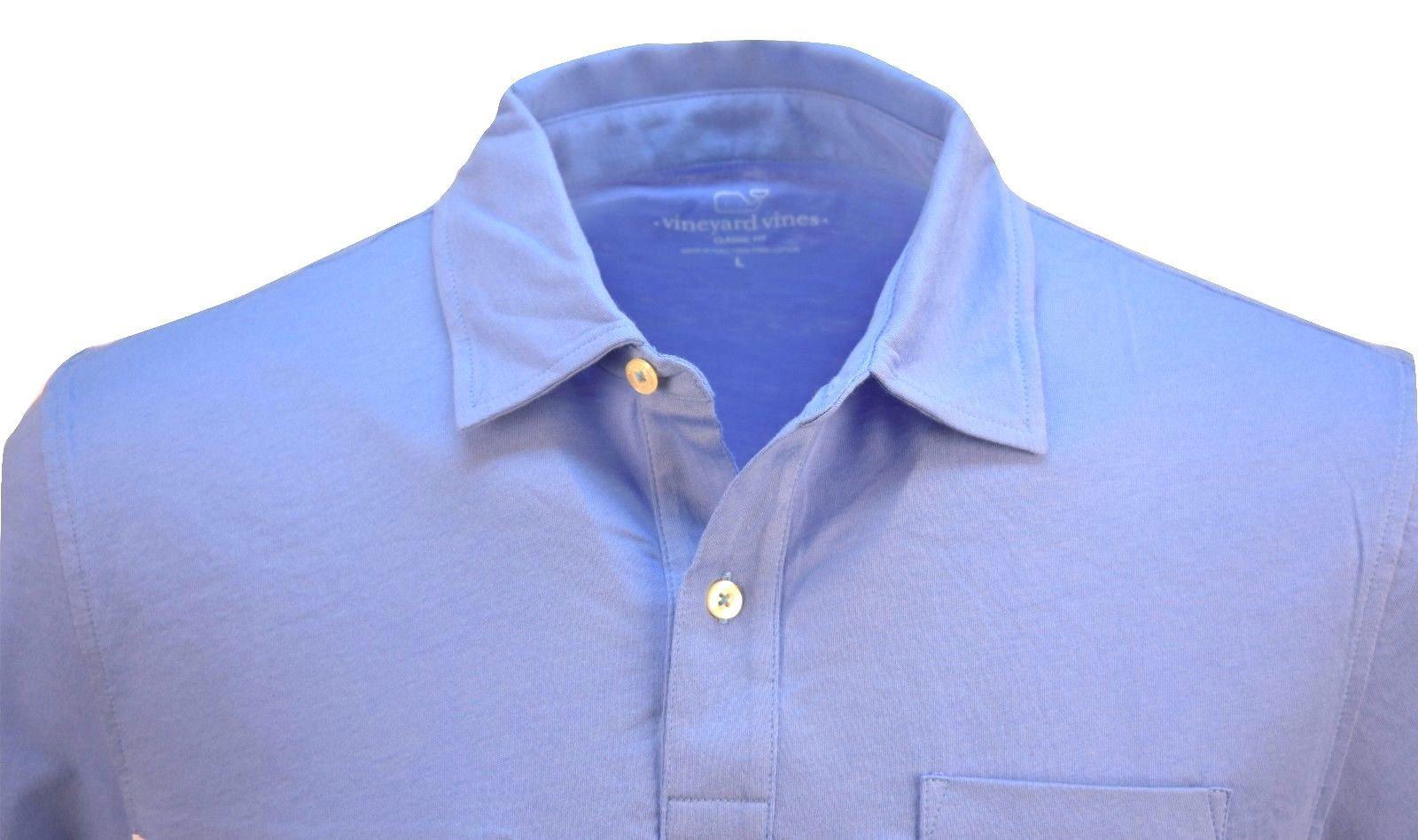 eab6c14ce0 Vineyard Vines Men's Jersey Polo Golf Shirt Breaker Blue Stripes $75[M] -  Walmart.com