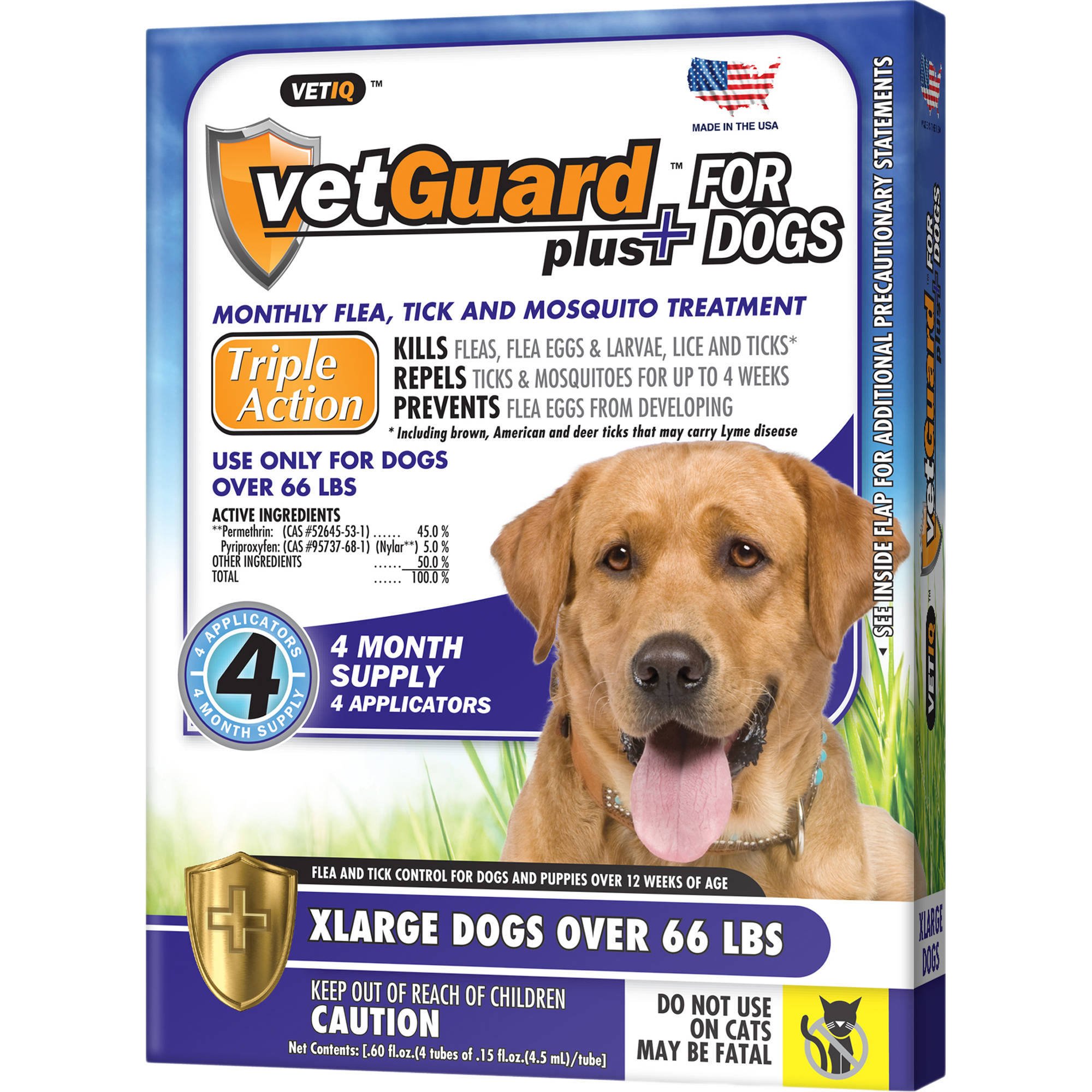 VetGuard Plus Flea and Tick Control for Extra Large Dogs