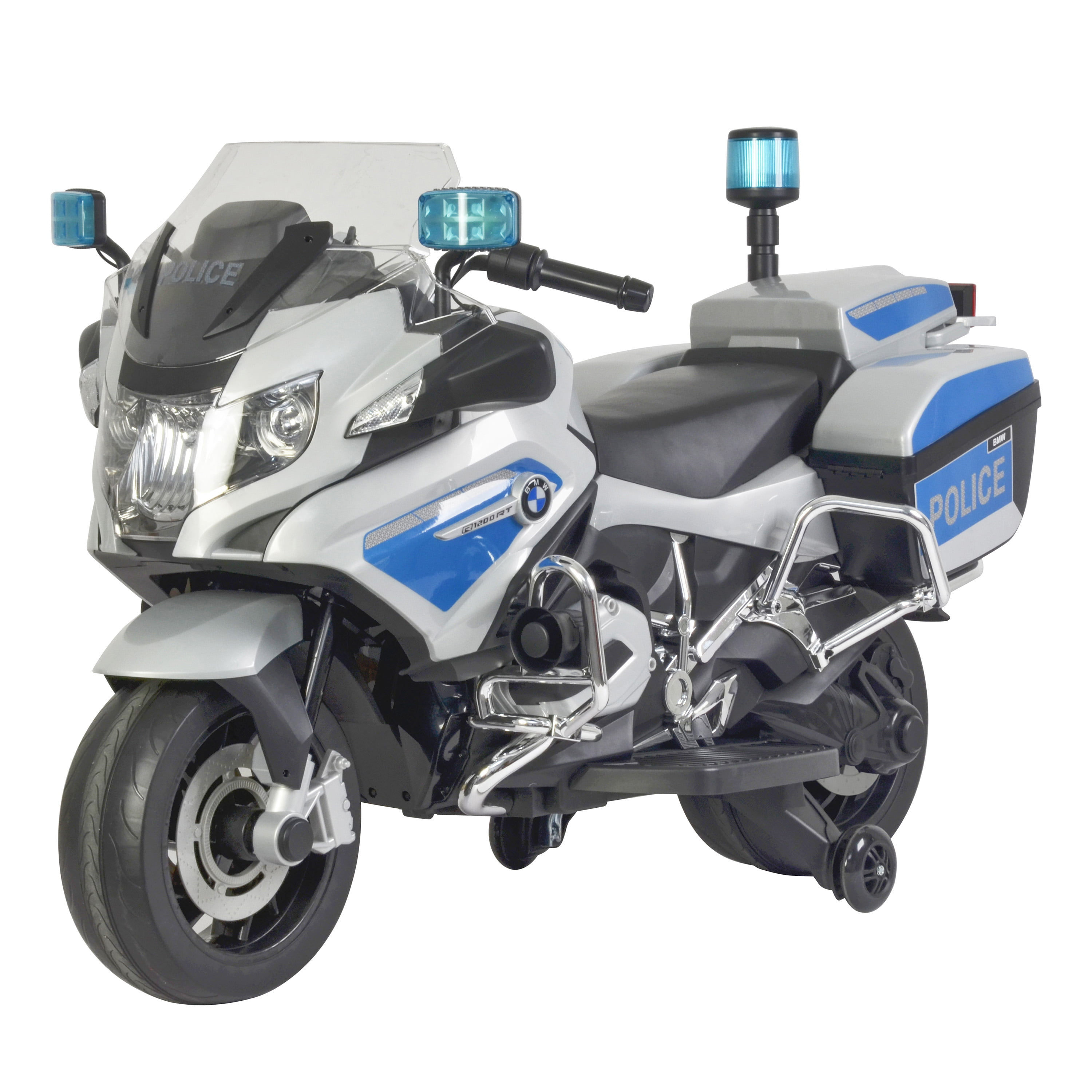 Kid Motorz BMW Police Motorcycle in White Light Blue (12V) by National Products Limited