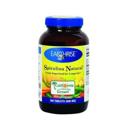Earthrise Spirulina Natural - 500 mg - 360 comprimés