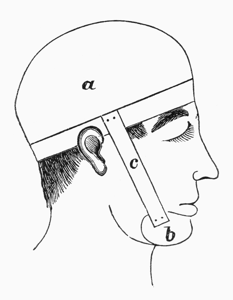 snoring device 1877 ndevice invented to keep a persons
