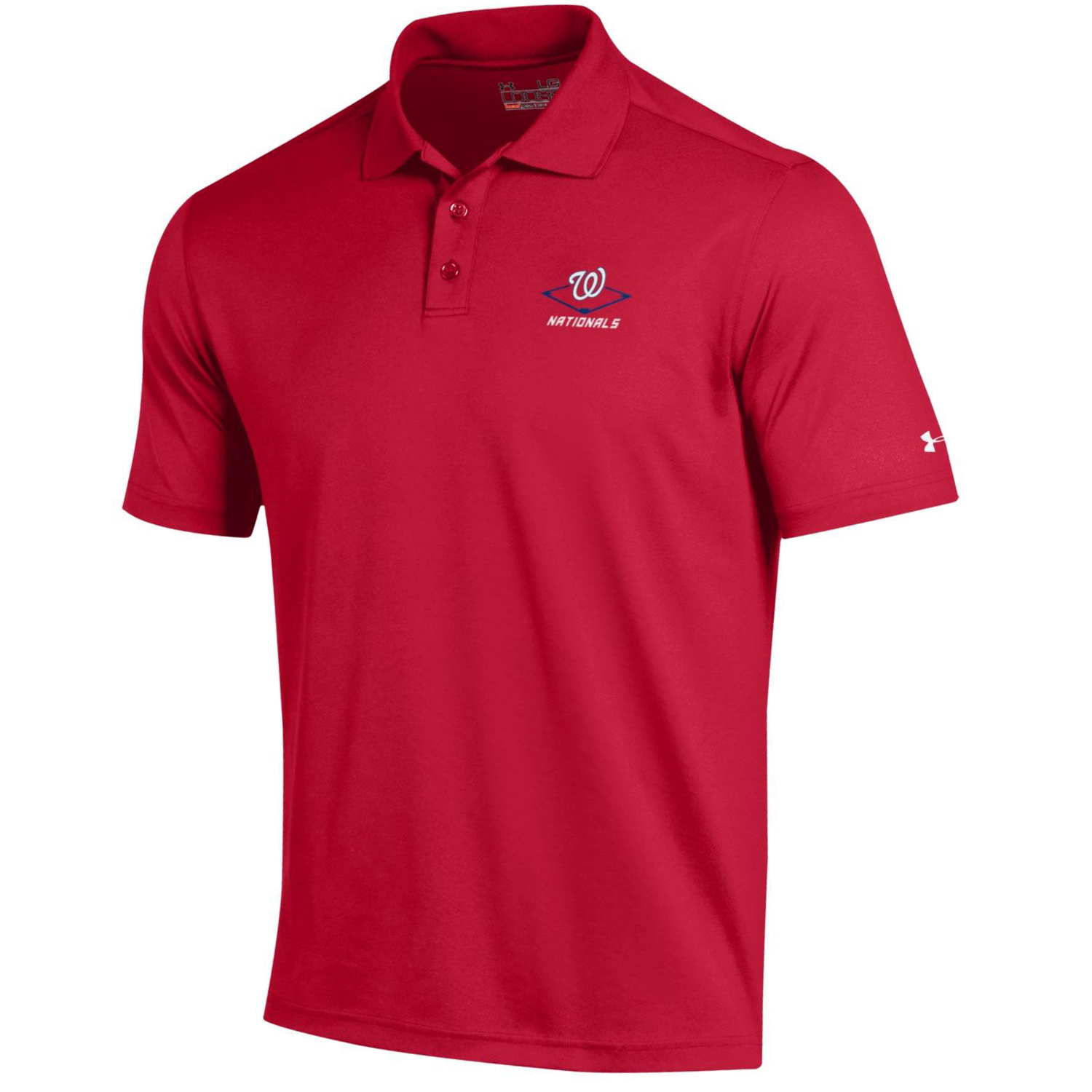 Men's Under Armour Red Washington Nationals MLB Performance Polo