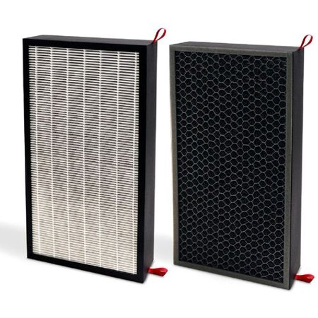 Honeywell - 3-in-1 HEPA Filter Kit for HPA600 Series Air Purifiers - White And Black Designed for Honeywell Professional Series HPA600 console air purifiers; 3-in-1 true HEPA filters; 1-year filter life; antimicrobial coating; activated carbon granules; includes 2 filters