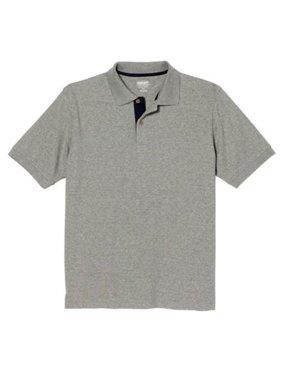 06dce97fbc09 Product Image Kirkland Signature Mens Short Sleeve Ribbed Cotton Polo  (Light Heather Grey, Medium)