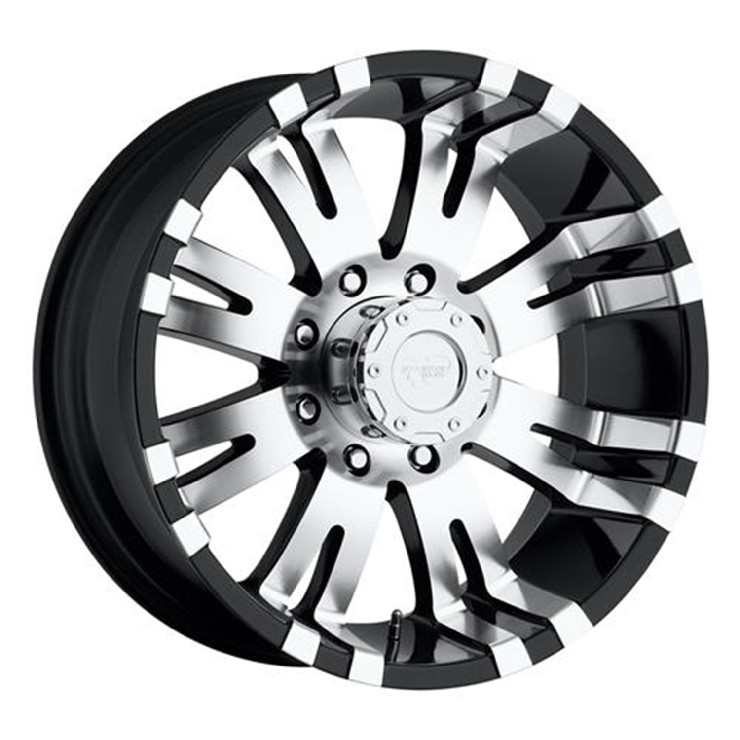 Pro Comp Alloy 81017985 Xtreme Alloys Series 8101 Gloss Black w/Machined Finish