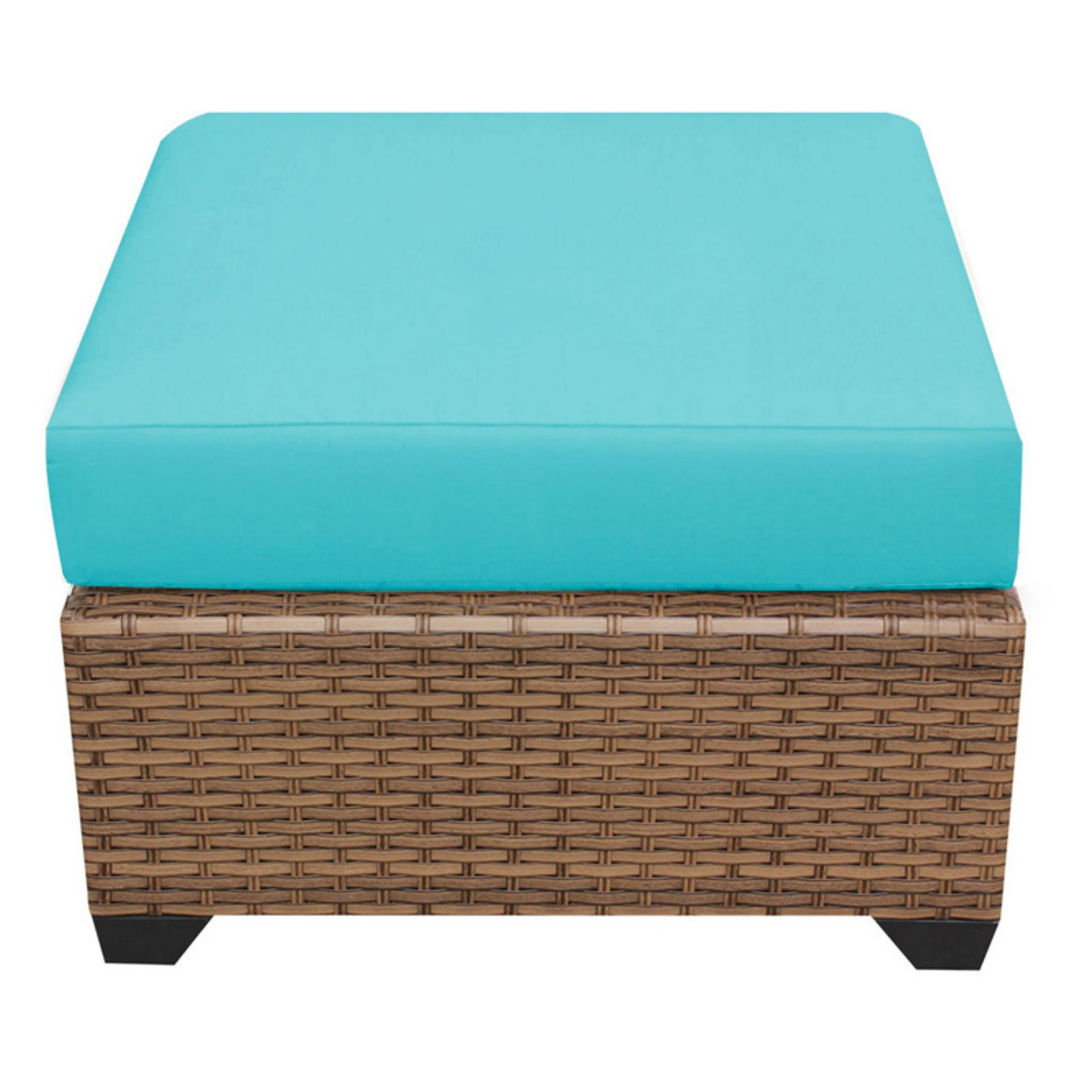 TK Classics Laguna Wicker Outdoor Ottoman - Set of 2 Cushion Covers