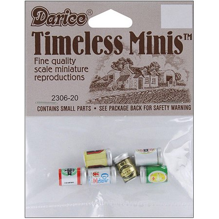 Timeless Miniatures Assorted Beer Cans, 6pk