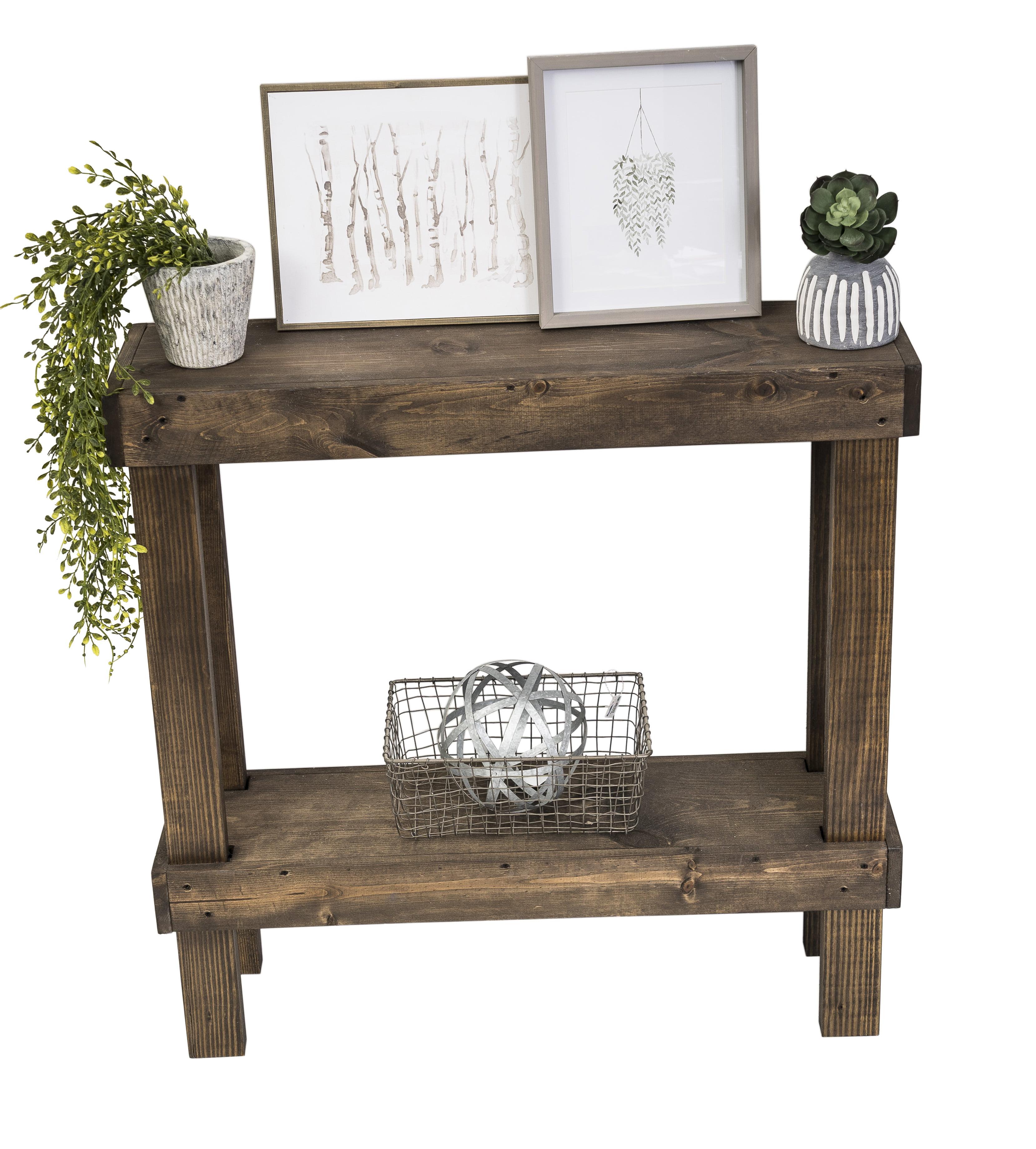 Rustic Luxe Small Wooden Sofa Table By Del Hutson Designs Walmart Com Walmart Com