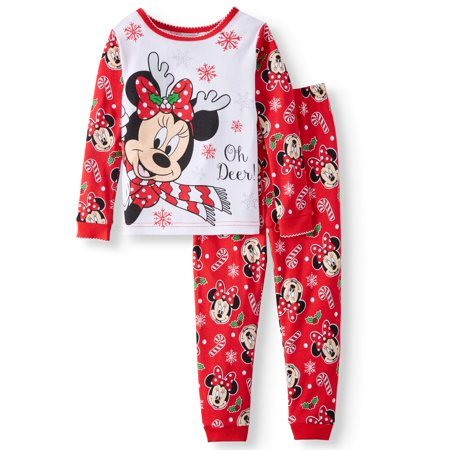 Christmas Long Sleeve Tight Fit Pajamas, 2pc Set (Toddler Girls) - A Christmas Story Pajamas