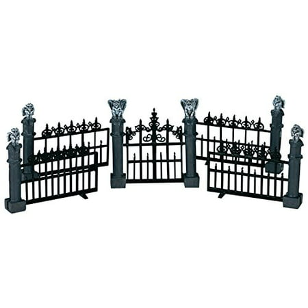 Lemax Spooky Town Halloween Gargoyle Fence (Set of 5) - Lemax Halloween Train