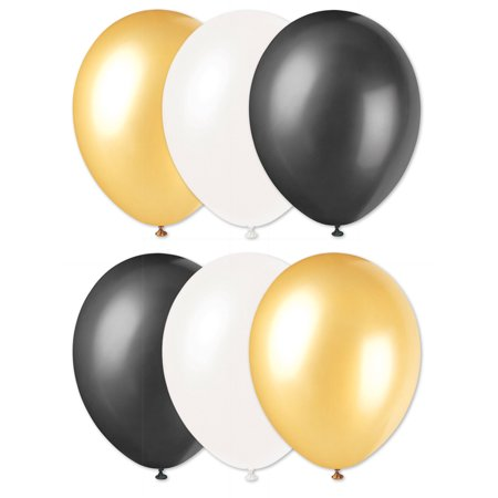 New Orleans Saints Football Super Bowl 6Pc 11  Latex Balloons  Gold Black White