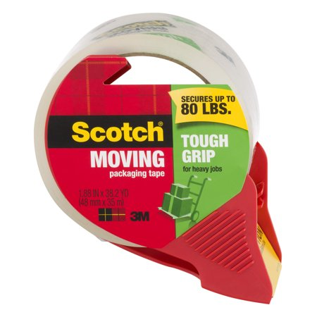 Scotch Moving Tough Grip Tape with Dispenser, 1.88 in x 38.2 YD