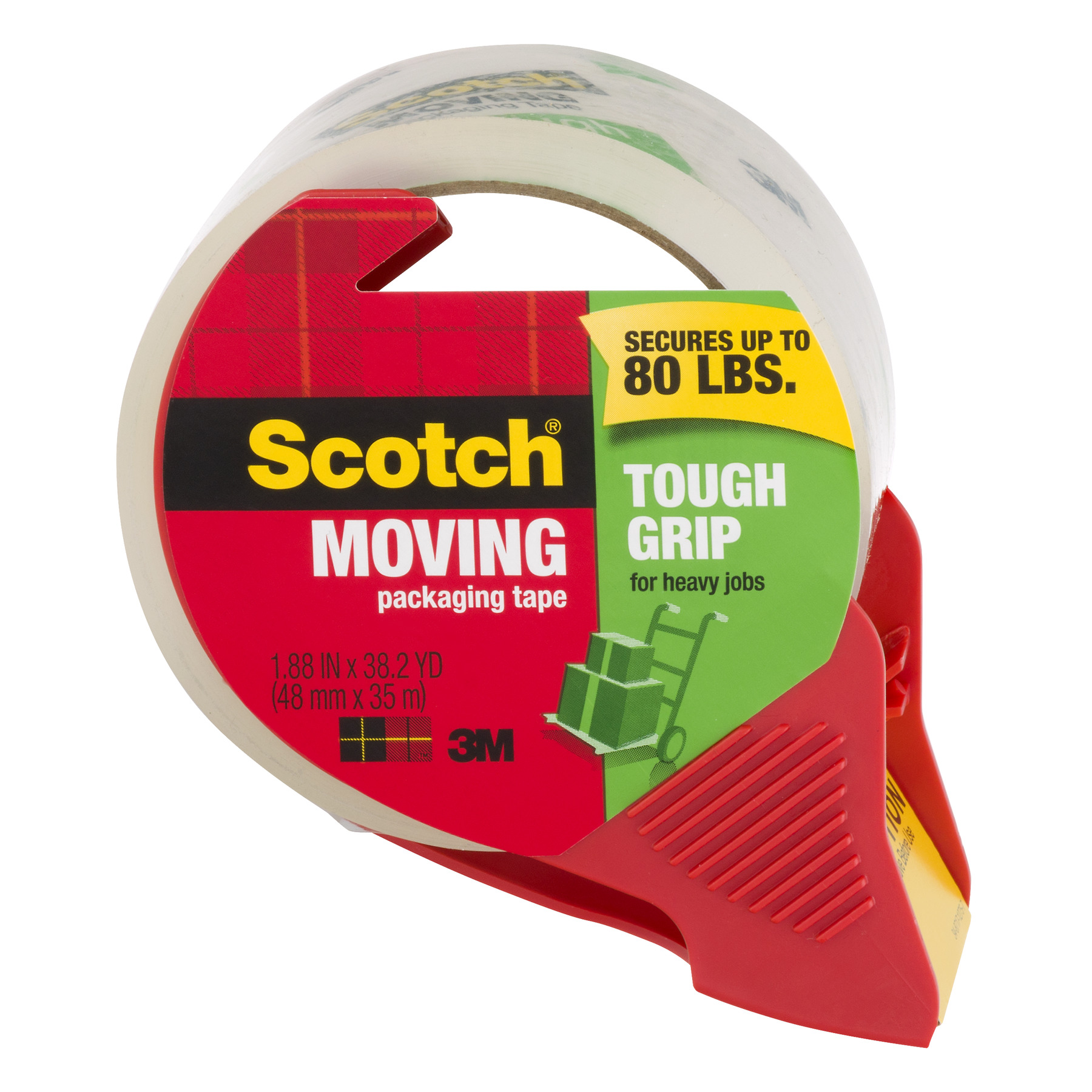 Scotch Moving Tough Grip Tape with Dispenser
