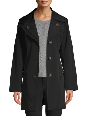 F.O.G. Women's Trench Coat with Belted Detail