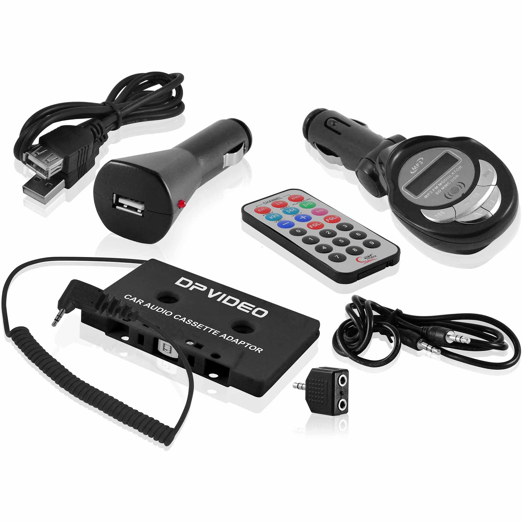 DP Audio Universal 6-in-1 Mobile Accessory Kit with Car Charger and FM Transmitter