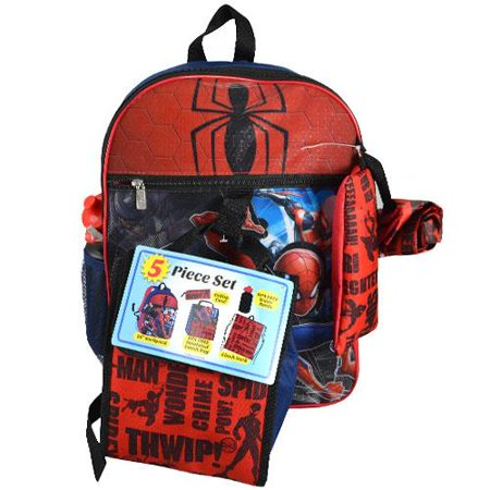 Spiderman 5pc Backpack Set (Spider Backpack)
