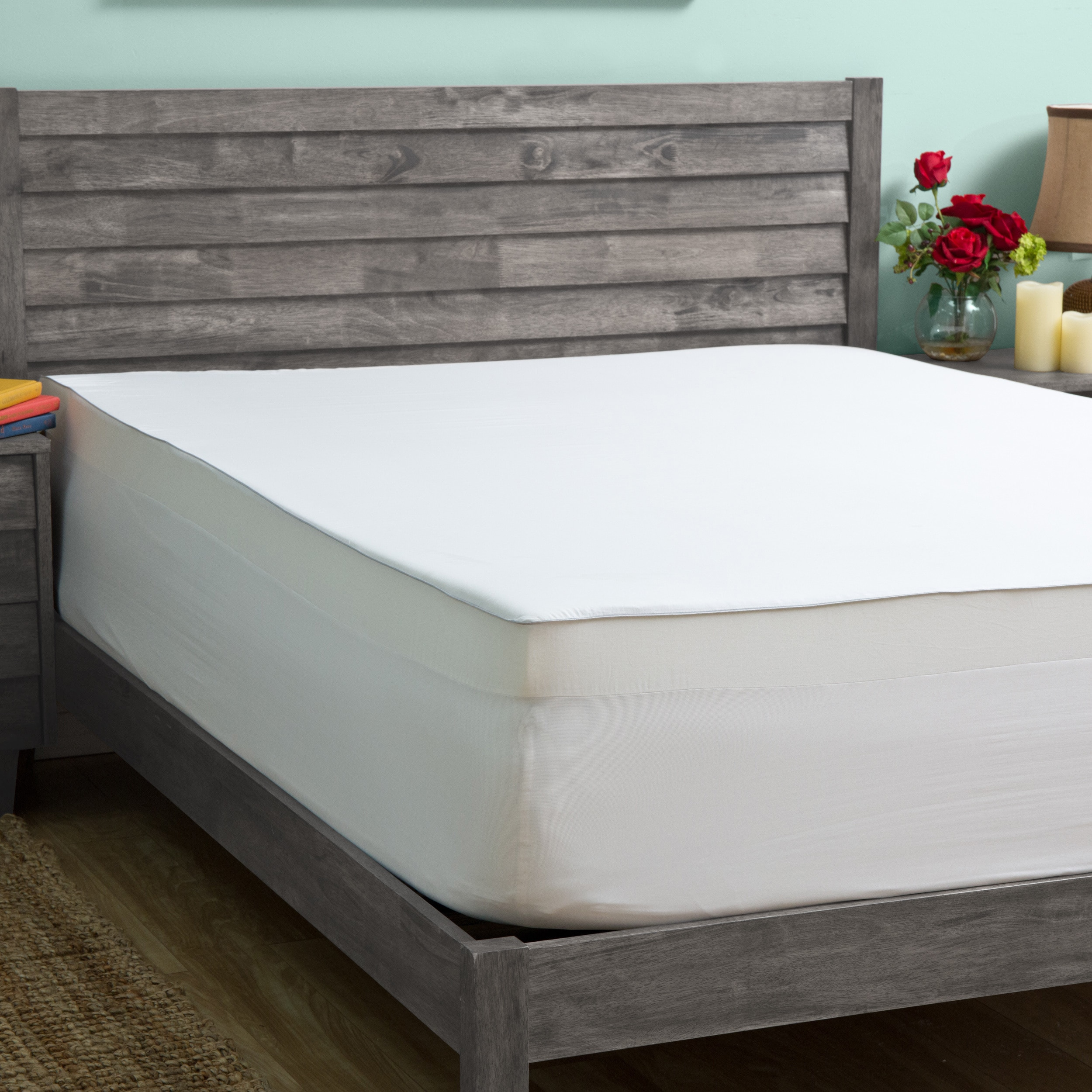 grande hotel collection 4-inch memory foam mattress topper with