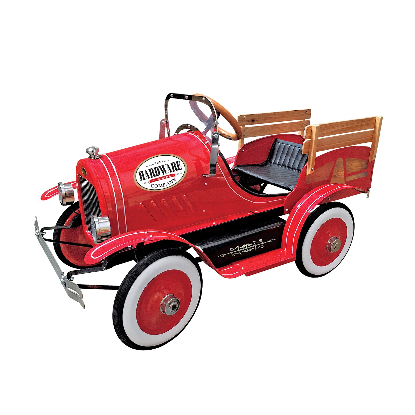 Dexton Kids Deluxe Vintage Delivery Truck Roadster Pedal Car Red by Dexton Kids