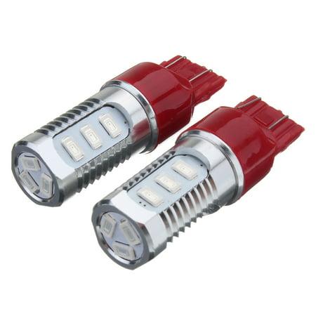 2X Flashing Strobe Blinking 7443 Red Rear Alert Safety Brake Tail Stop Lights - image 7 of 9