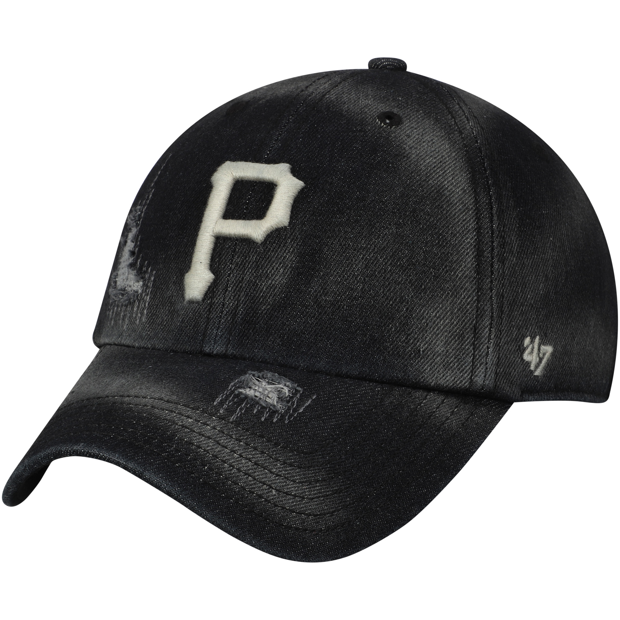 Pittsburgh Pirates '47 Loughlin Clean Up Adjustable Hat - Black - OSFA