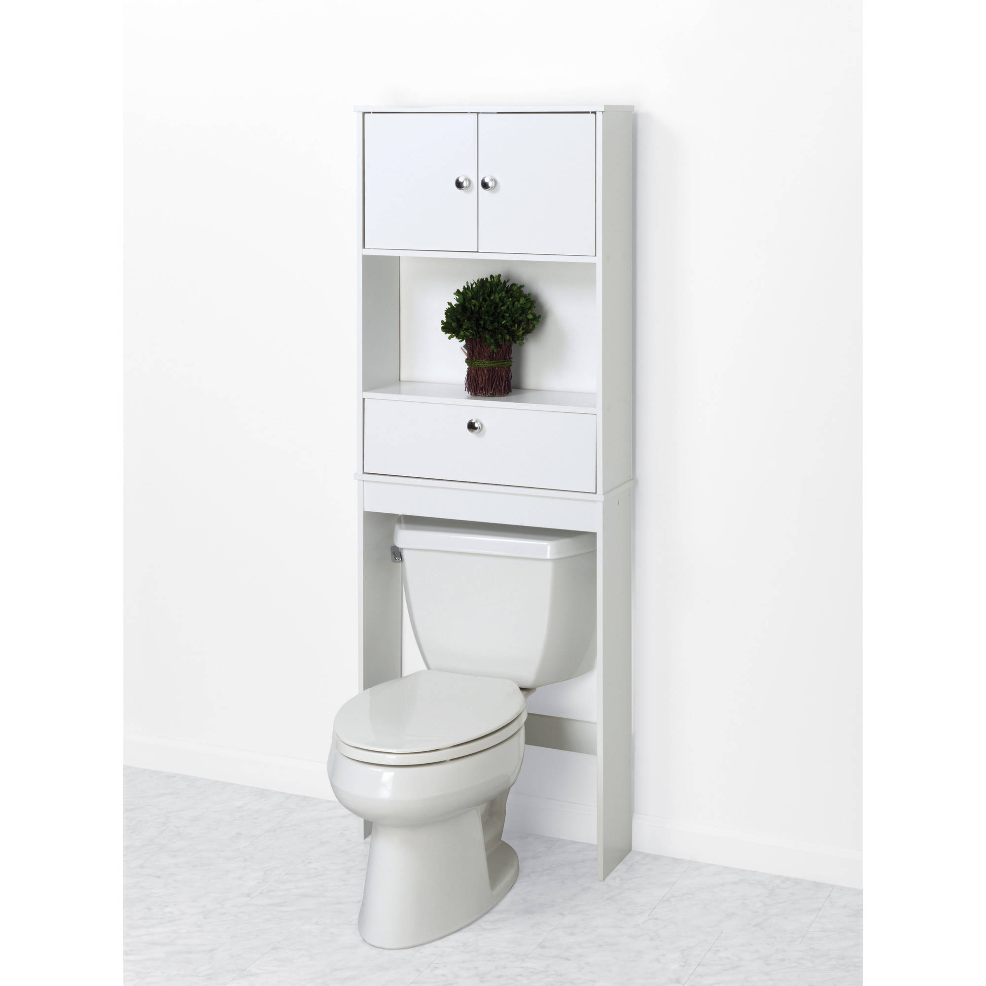 hawthorne place white wood spacesaver bathroom shelf walmartcom