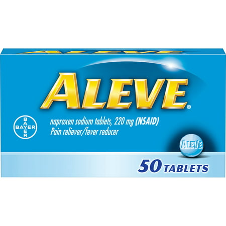 Aleve Pain Reliever/Fever Reducer Naproxen Sodium Tablets, 220 mg, 50
