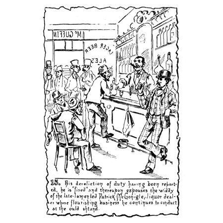 Cartoon Network City Halloween (Immigrants Irish C1885 Nscene In An Irish Pub In New York City Presided Over By A Former Police Officer (Behind The Bar) Who Married The Previous OwnerS Widow American Cartoon)
