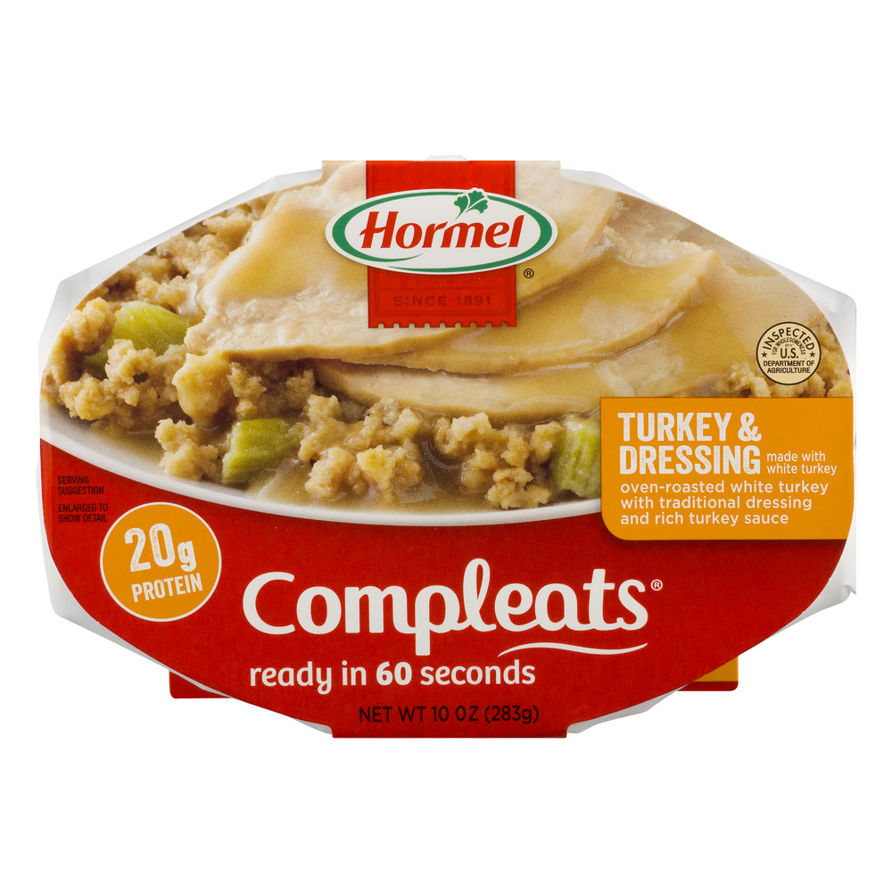 Hormel Compleats Turkey & Dressing 10 oz Sleeve
