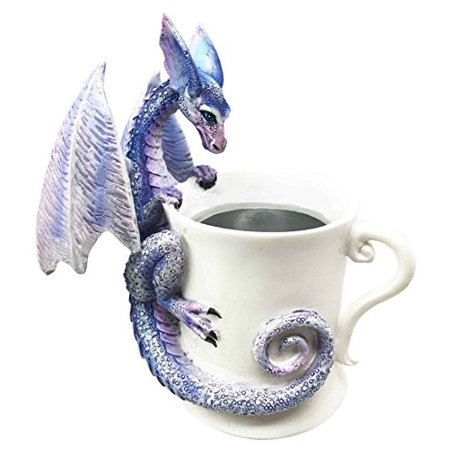 "Amy Brown ""Whatcha Drinkin"" Peeking Dragon For The Love Of Tea Coffee Cup Sculpture Figurine"