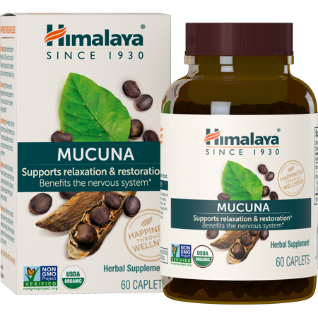 Himalaya Herbals Organic Mucuna for Restful Sleep & Relaxation, 600mg, 60 Ct