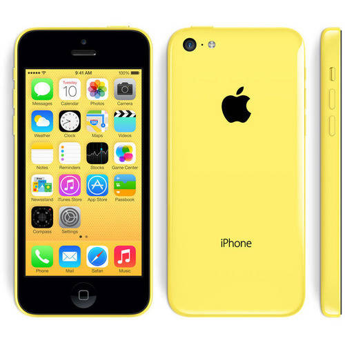 Apple iPhone 5C 16GB Unlocked GSM Phone, Yellow, Manufactured Refurbished