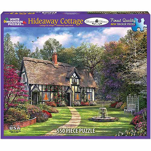 White Mountain Puzzles 1000-Piece Jigsaw Puzzle, Hideaway Cottage