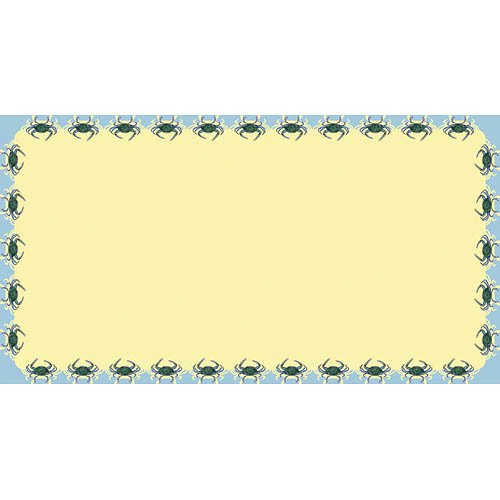 Betsy Drake Interiors Crab Rectangular Tablecloth