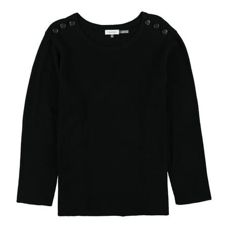 Calvin Klein Womens Shoulder Button Pullover Sweater