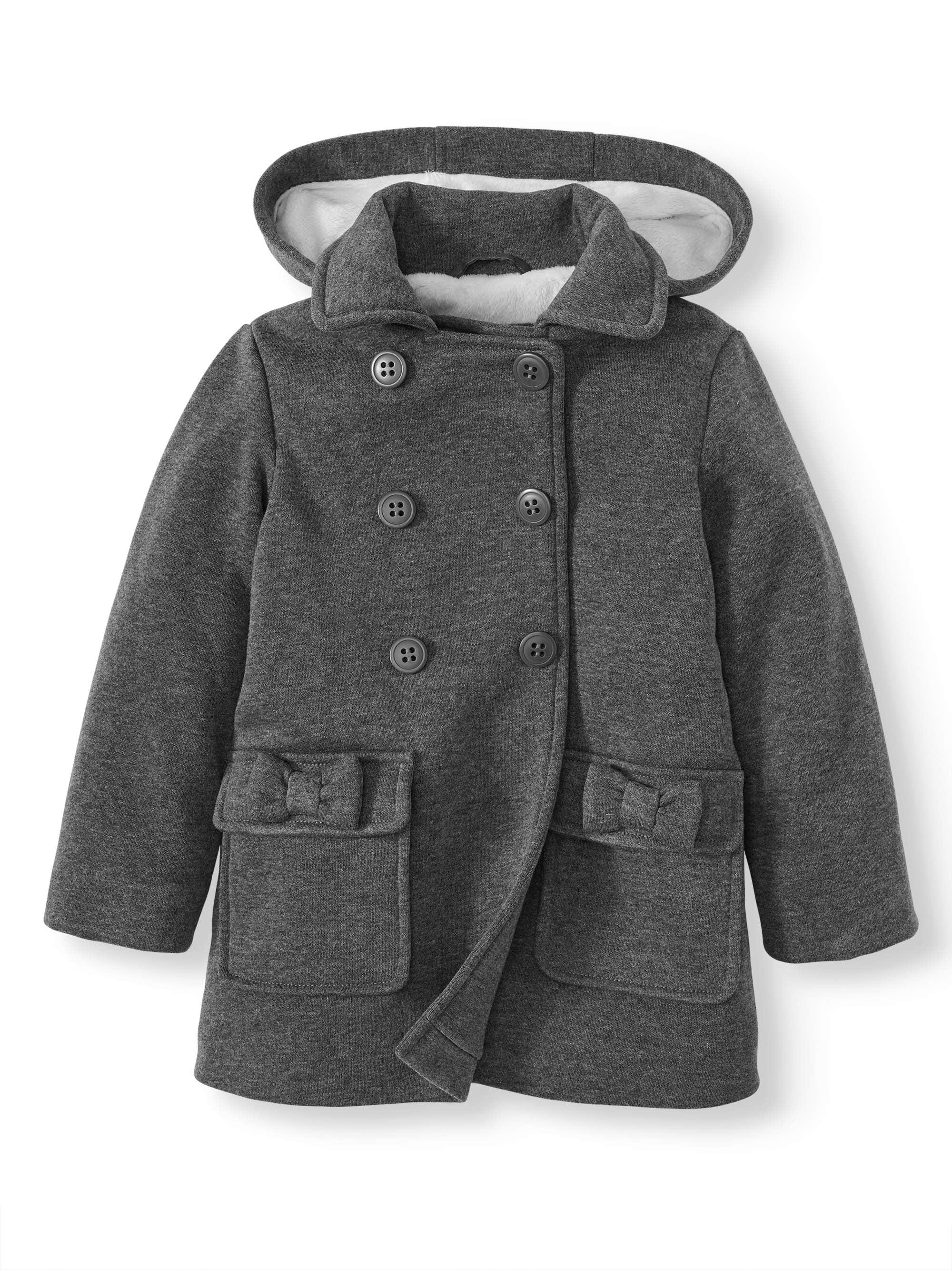 new york fashionablestyle sold worldwide BHIP - BHIP Baby Toddler Girl Double Bow Fleece Peacoat - Walmart.com